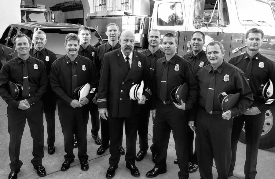 firefighters group photo