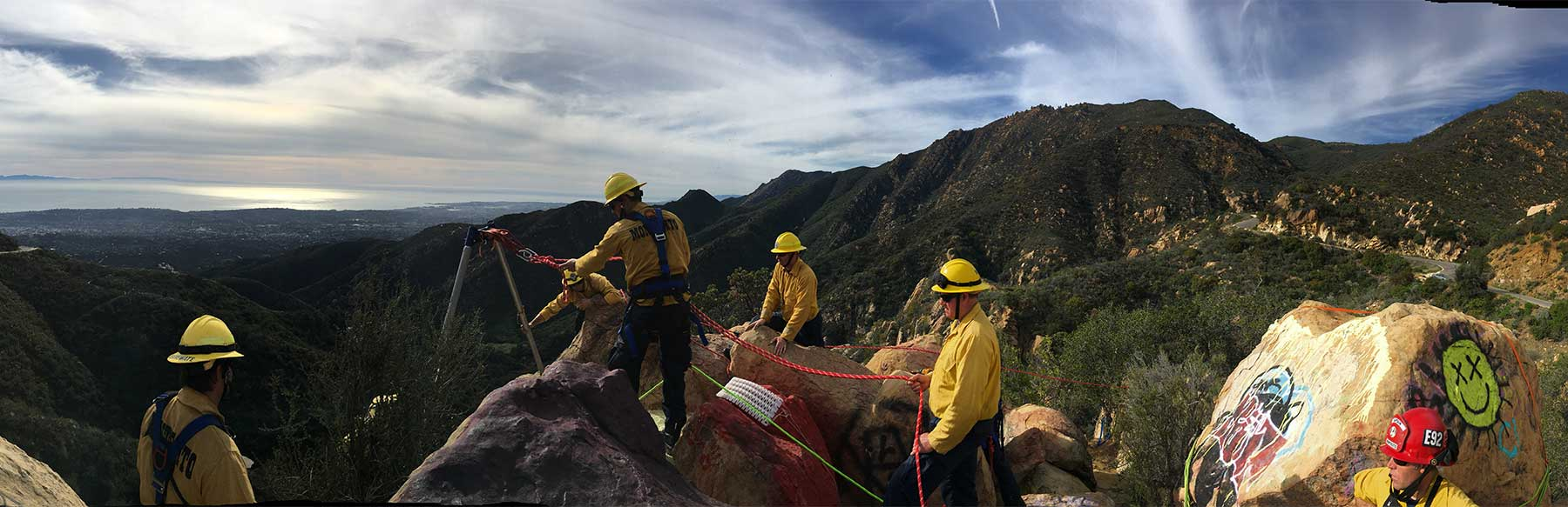 mountain rescue exercise